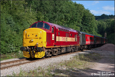 37419 emerges from the shadows at Cefn Onn with 2F14 0913 Rhymney-Cardiff Central on 20/08/2005.