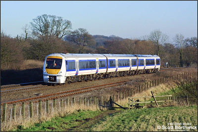 168111 is pictured climbing Hatton bank on 31/12/2001 with a London Marylebone-Birmingham Snow Hill service.