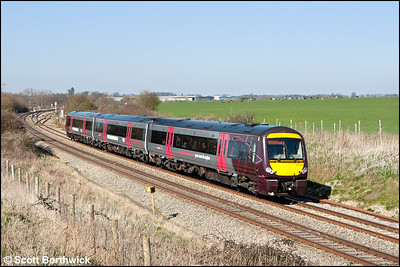 170104 forms 1V10 1311 Nottingham-Cardiff Central at Abbotswood Jnct on 26/03/2012.