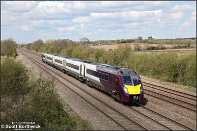 180109 forms 1B46 1312 Nottingham- London St Pancras International at Cossington on 12/04/2021.