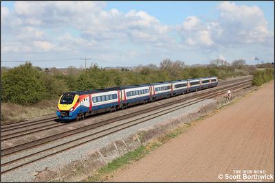 222001 forms 1B28 0945 Nottingham-London St Pancras International at Cossington on 12/04/2021.