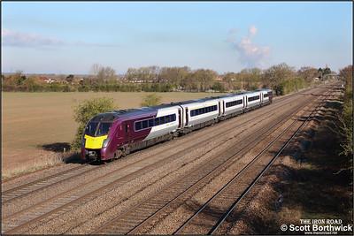 180113 forms 1D09 0735 London St Pancras International-Nottingham at Cossington on 12/04/2021.