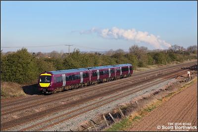 170417 works 5T01 0619 ThO Nottingham Eastcroft-Nottingham Eastcroft via Newark & Leicester on 15/04/2021.