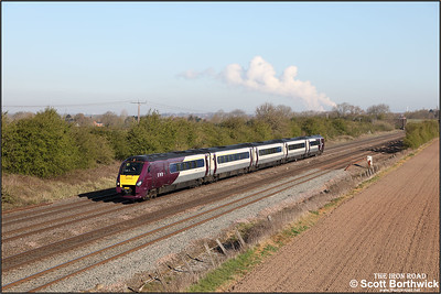 222022 passes Cossington whilst forming 1C22 0746 Sheffield-London St Pancras International on 15/04/2021.