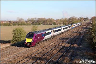 222101+222016 form 1B21 0704 Lincoln-London St Pancras International at Cossington on 12/04/2021.