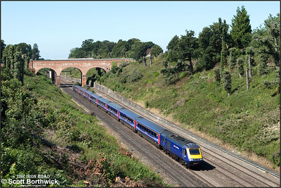 43017/43129 form 1A13 1030 Bristol Temple Meads-London Paddington passing through Sonning cutting on 12/08/2016.