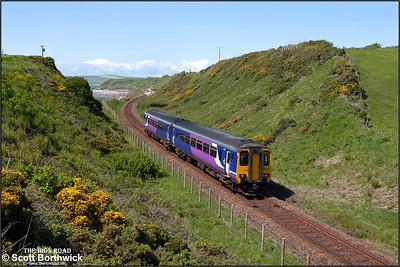 156466 forms 2C37 1219 Lancaster-Carlisle at Nethertown on 23/05/2016.