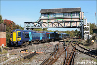 375808 trails 375308 whilst forming 2R30 1110 London Charing Cross-Ramsgate departing Canterbury West on 09/10/2018.