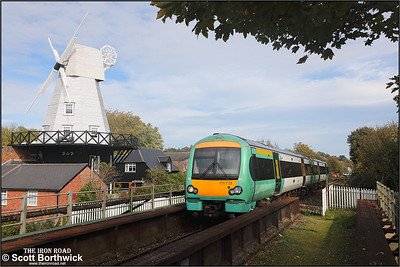 171723 forms 2D27 1224 Ashford-Eastbourne departing from Rye on 12/10/2018.