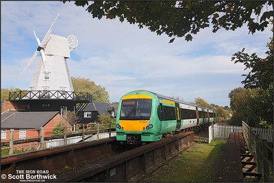 171201 forms 2D30 1149 Eastbourne-Ashford approaching Rye on 12/10/2018.