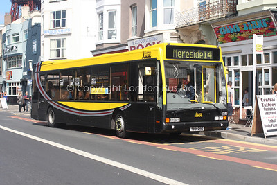 220, T881RBR, Blackpool Transport