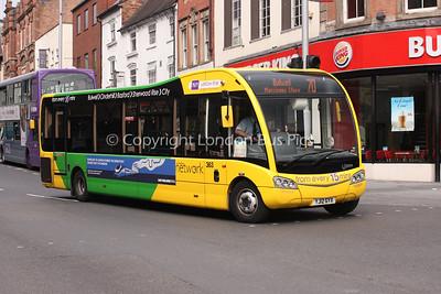 363, YJ12GYX, Nottingham City Transport