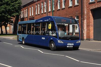 347, YJ61CGO, Nottingham City Transport