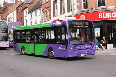 374, YX13AET, Nottingham City Transport