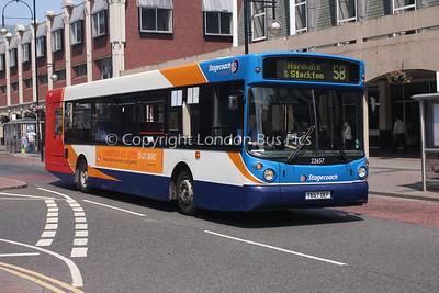 22657, T657OEF, Stagecoach in Teeside