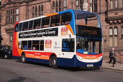 15676, KX10KTF, Stagecoach in Warwickshire