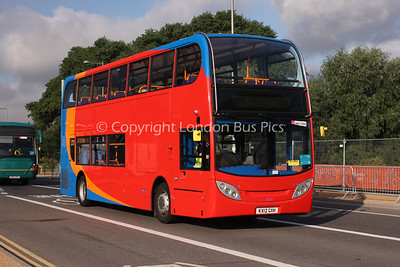 10039, KX12GXH, Stagecoach in Warwickshire working for Stagecoach UK Bus Events