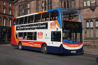 15678, KX10KTJ, Stagecoach in Warwickshire