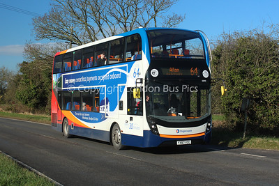 10890, YX67VCC, Stagecoach in Hampshire