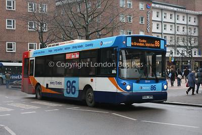 31044, R144NPN, Stagecoach in Warwickshire