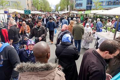 Nederland, Amsterdam, 16 mei 2016, de Dappermarkt, foto: Katrien Mulder