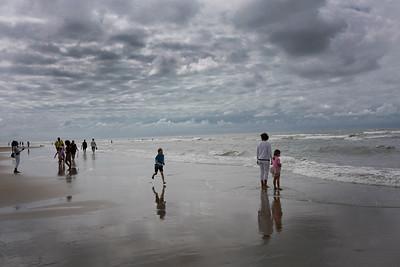 Nederland, Zandvoort, 03-08-2019bewolkte dag op het strand, foto: Katrien Mulder/Hollandse Hoogte