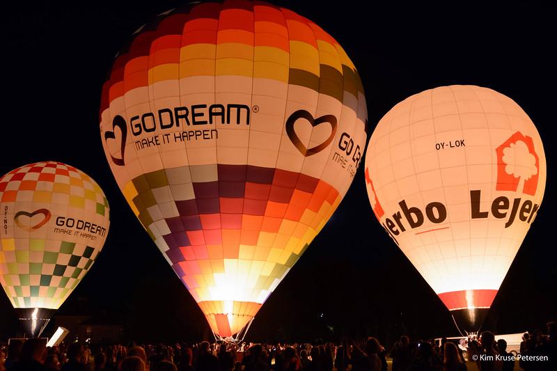 Golden Balloon i Fælledparken - august 2014