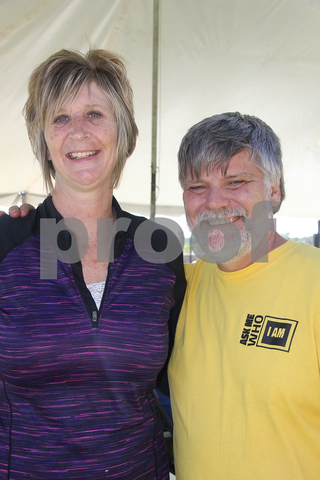 Opportunity Village Walk and Appreciation Lunch took place at the square by the library in Fort Dodge. The event was held on Sunday, September 11, 2016. Pictured (left to right) is: Pam Garcia (of Northwoods facility) and Gordon Peterson (of Clear Lake facility).
