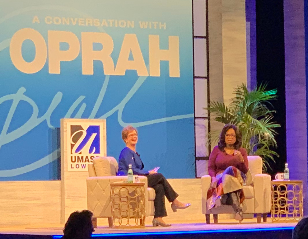 . Chancellor Jacquie Moloney and Oprah Winfrey