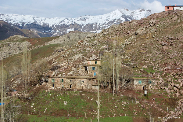 Village at the foot of Mt Marato
