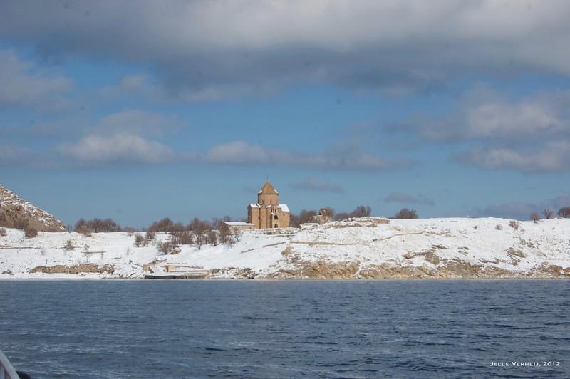 Aghtamar Island in winter