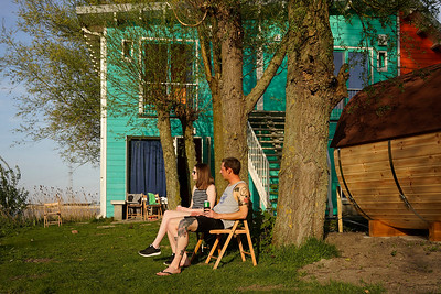 Nederland, Amsterdam, 22-04-2019, camping Zeeburg, foto: Katrien Mulder/Hollandse Hoogte