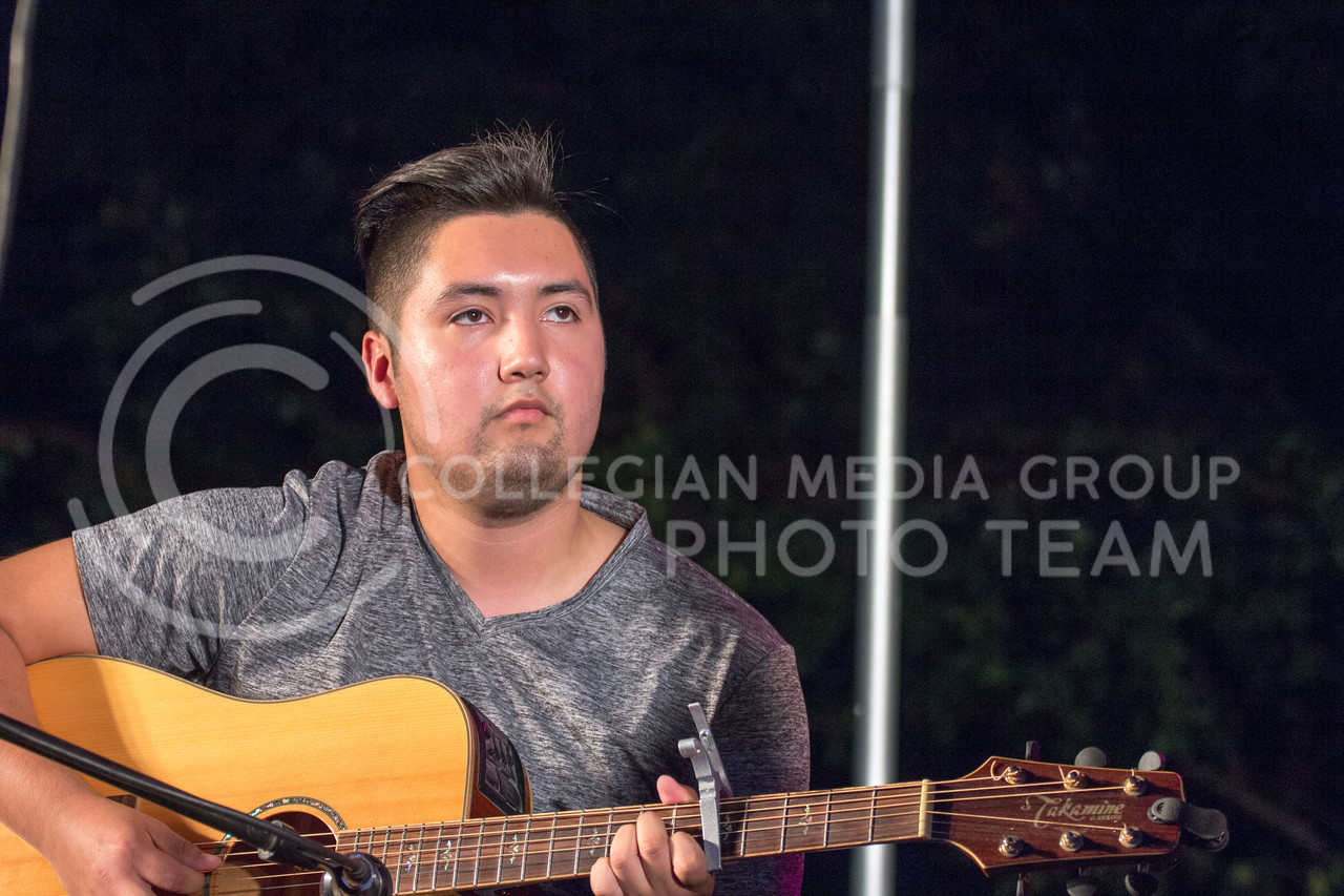Tony Sierra, Walking in Traffic, Preforms at Opus Battle of the Bands on Sept. 22, 2017 (Alex Shaw | Collegian Media Group)