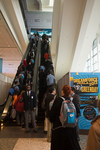 Couldn't go up Moscone West because badge was only for keynotes and exhibits.