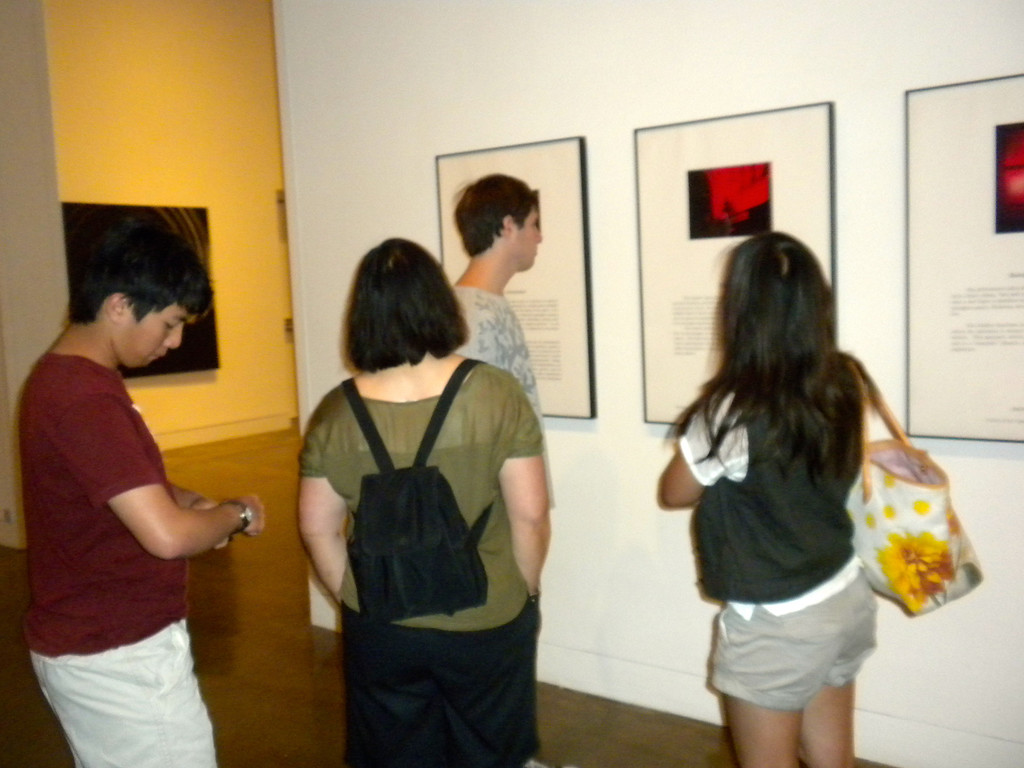Orange Museum of Art, Jack Goldstein Exhibition with Osaki Family on Friday, August 10, 2012