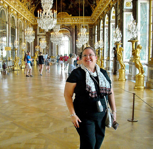 Paula Bartie Hall of Mirrors in Versailles Palace Paris, France