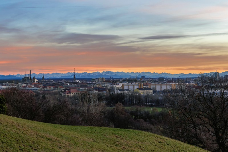 Sunset with Alps