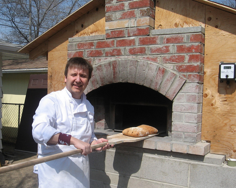 Mark and his Brick Oven