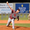 Dillon Jackson of Orangeburg Post 4 delivers a pitch against Camden Post 17 Monday night in Orangeburg.
