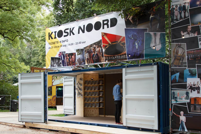 nederland 2014, groningen, oranje- en plantsoenwijk, noorderzon opbouw