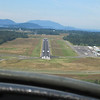 Landing at Skagit Valley airport which has been newly repaved