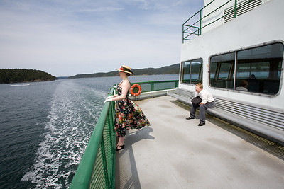 You can dress up or down for a ride on the ferry.