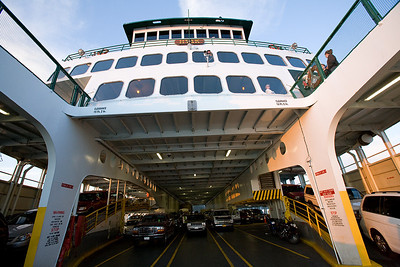 The ferries hold a surprising number of cars and passengers, but it's often not enough in the Summer season.