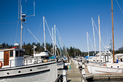 Deer Harbor is the largest boat marina on Orcas Island.