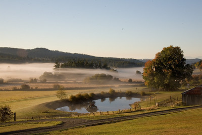 Crow Valley makes a bucolic scene as dawn breaks.
