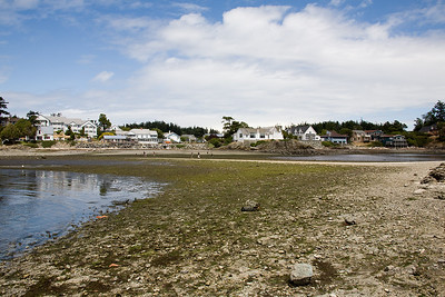 Eastsound waterfront at low tide.