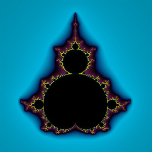 """Classic Mandelbrot"": A 36x36"" canvas showing the classic Mandelbrot set."