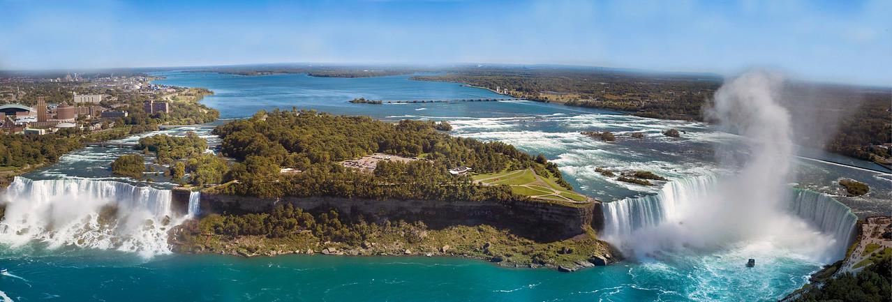 Both American And Canadian Falls - Niagara