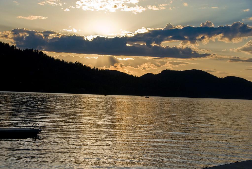 White Fish Lake Sunset