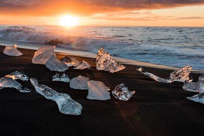 Sunrise at Ice Lagoon Iceland